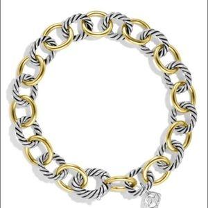 David Yurman Oval Link Gold Silver Bracelet